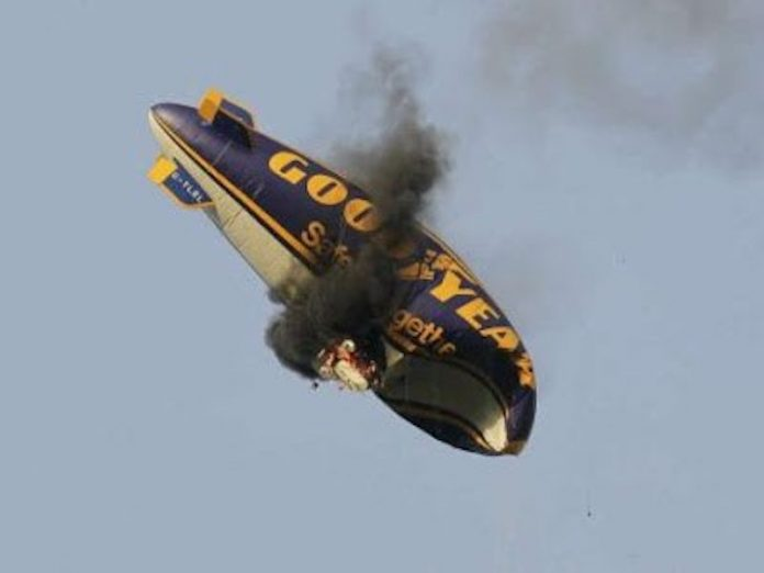 Goodyear Blimp Crash and Burn